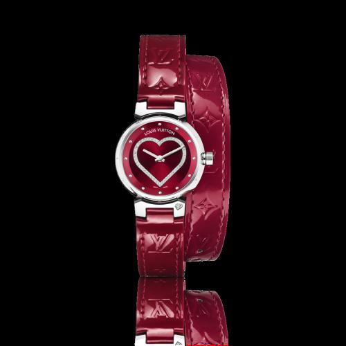 Tambour Cœur Quartz, une montre féminine signée Louis Vuitton
