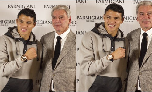 Thiago Silva Parmigiani porte une Fleurier Pershing CBF