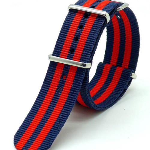 bracelet NATO rouge bleu